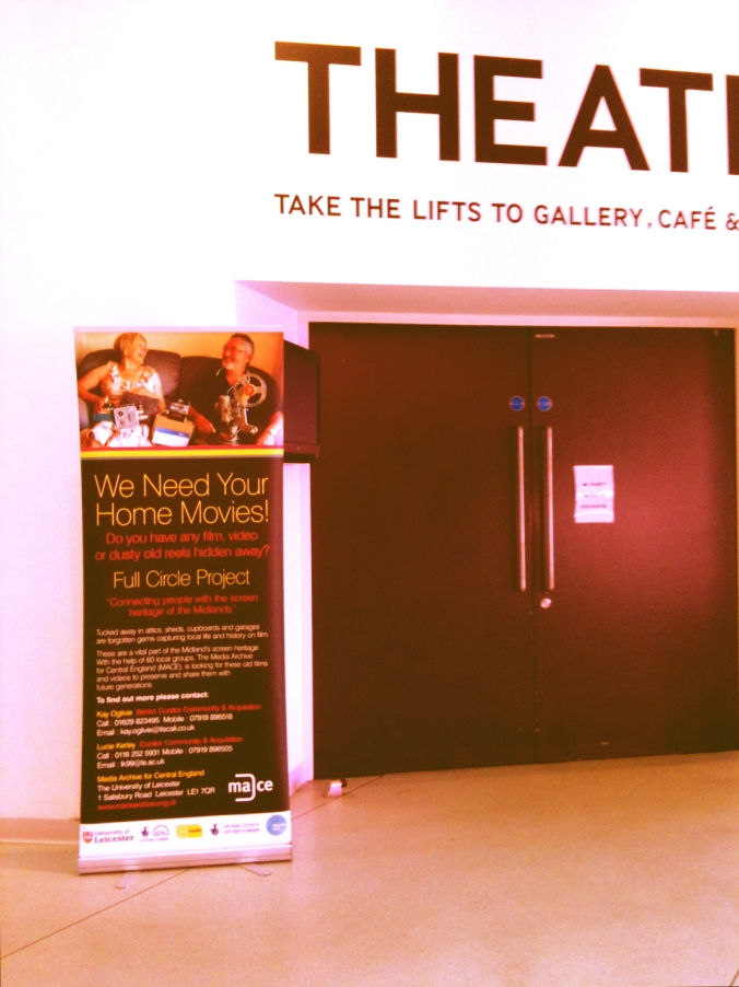 Entrance to one of the many screening rooms at The Public with the Full Circle banner