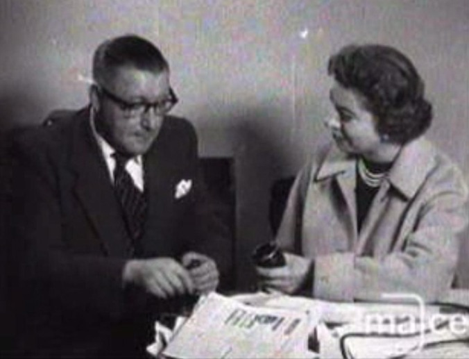 Midlands News, 9th October 1957: Pat Cox interviews Albert Jebbett, the editor of the Nuneaton Evening Tribune, about television's apparent lack of coverage of the town and then vox pops locals about their opinion of Nuneaton.